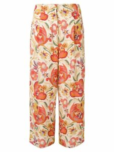 Etro floral printed trousers - NEUTRALS