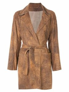 Sylvie Schimmel belted wrap coat - Brown