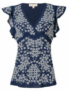 Michael Michael Kors floral print blouse - Blue