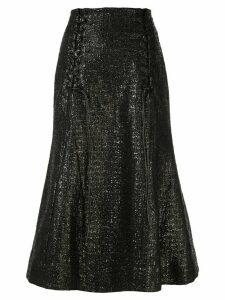 Olivier Theyskens metallic fishtail skirt - Black