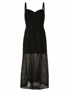 Olivier Theyskens lace maxi dress - Black