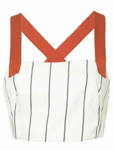 Manning Cartell Paper Giants cropped top - White