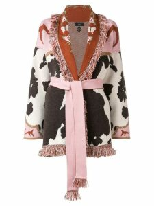 Alanui cow cashmere cardigan - Brown