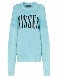 Amiri kisses oversized knited jumper - Blue