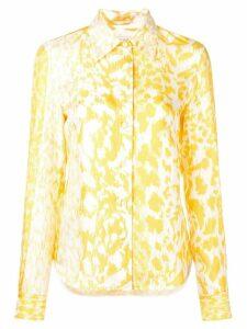 Victoria Beckham leopard print shirt - Yellow