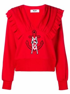 MSGM embroidered anchor sweatshirt