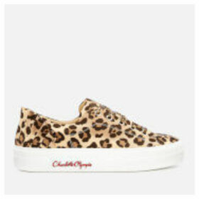 Charlotte Olympia Women's Satin Trainers - Leopard
