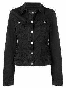 Versace Pre-Owned button-down denim jacket - Black