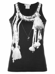 Givenchy Pre-Owned tassel print tank top - Black