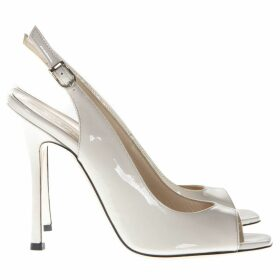 Marc Ellis Ivory Patent Leather Sandals