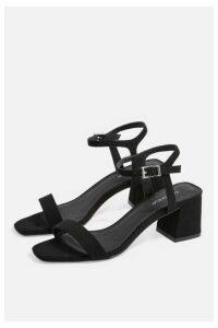 Womens Dallas Square Sandals - Black, Black