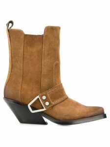 Diesel western block heel boots - Brown