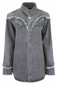 Alanui Denim Shirt With Beads