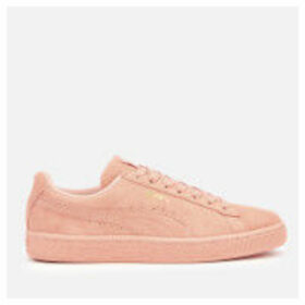 Puma Women's Suede Classic Trainers - Peach Bud/Puma Team Gold - UK 8 - Pink