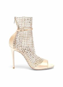 'Galaxia' strass cage satin sandals