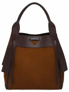 Prada Prada Ouverture large tote bag - Brown
