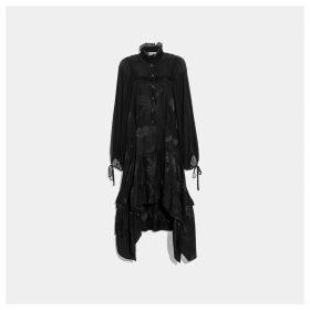 Coach Palm Tree Print Jacquard Dress