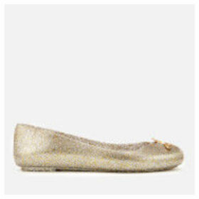 Vivienne Westwood for Melissa Women's Space Love 21 Ballet Flats - Gold Glitter Orb - UK 8