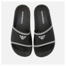 Emporio Armani Women's Slide Sandals - Black/White - UK 3 - Black/White