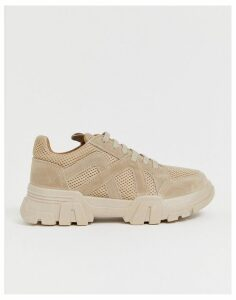 ASOS DESIGN Drone chunky trainers in sand-Beige