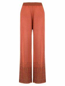 Mara Mac knitted palazzo pants - ORANGE