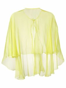 Maria Lucia Hohan Hohan cape blouse - Yellow