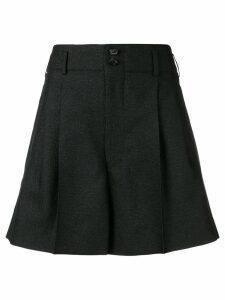 Comme Des Garçons pleated wide leg shorts - Black
