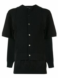 Comme Des Garçons layered cardigan - Black