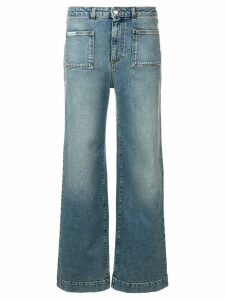 Alexa Chung cropped straight jeans - Blue