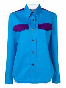 Calvin Klein 205W39nyc contrasting pocket shirt - Blue