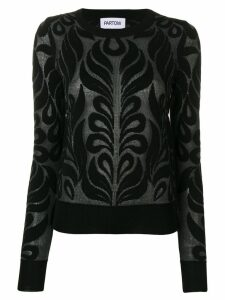 Partow Anise patterned jumper - Black