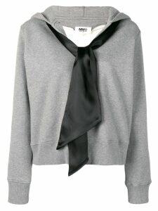 Mm6 Maison Margiela hooded sweater - Grey