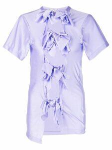 Comme Des Garçons slim-fit bow T-shirt - Purple
