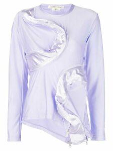 Comme Des Garçons asymmetric zipped top - Purple