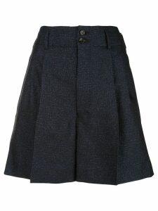 Comme Des Garçons pleated shorts - Blue