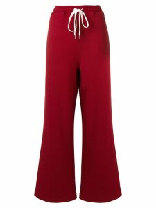 Marni wide leg track trousers - Red