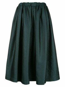 Comme Des Garçons high-waisted midi skirt - Blue