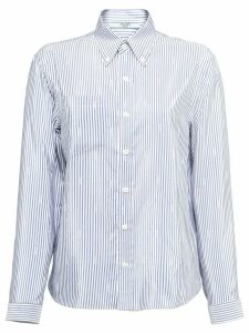 Prada striped pongé blouse - Blue