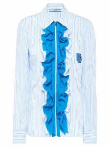 Prada chiffon ruffle blouse - Blue