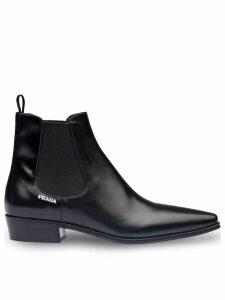 Prada square toe Chelsea boots - Black