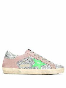 Golden Goose Superstar glitter sneakers - Silver
