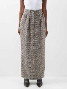 Gucci - Gg-jacquard Wool Sweater - Womens - Navy Multi