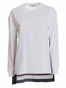 Stella Mccartney Jersey Blouse With Monogram Silk Insert In Multicolor