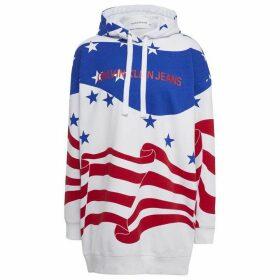 Calvin Klein Jeans Flag AOP Hoodie - AOP SurfWeb