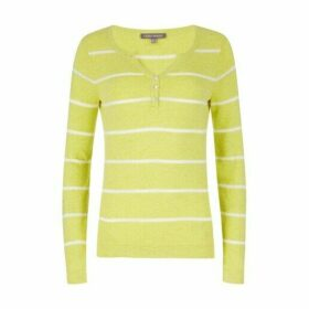 Yellow Stripe Henley Jumper