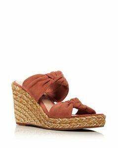 Stuart Weitzman Women's Sarina Espadrille Wedge Slide Sandals