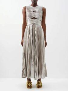 Gucci - Alsacienne Print Silk Faille Bowling Shirt - Womens - Blue Multi