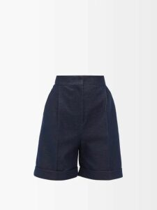 Raf Simons - Draped-panel Lamé-jacquard Sweater - Womens - Silver Multi