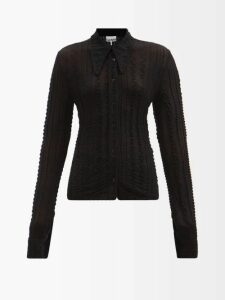 2 Moncler 1952 - Fringed Cotton Blend Sweater - Womens - Cream