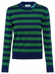Prada striped lamé sweater - Blue